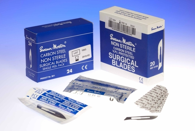 Swann-Morton No.23 Non-Sterile Surgical Blades Made In Sheffield UK Pk of 100